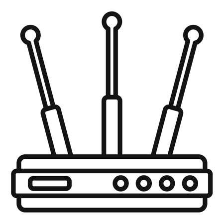 Wifi router icon, outline style Stok Fotoğraf - 166877637