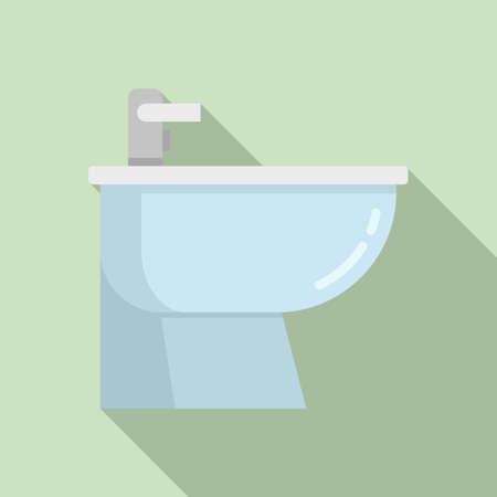 Bath bidet icon, flat style