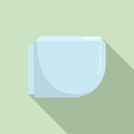 Hygiene bidet icon, flat style Ilustração