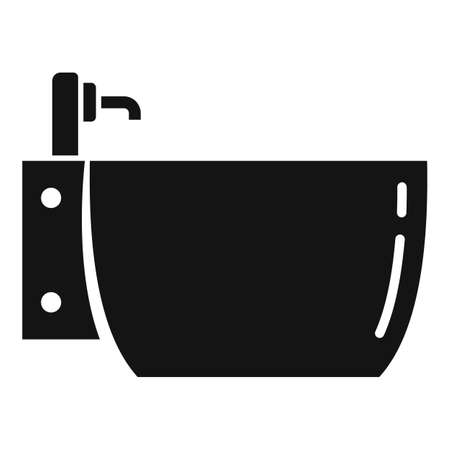 Bidet icon, simple style