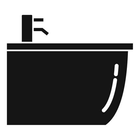 Ceramic bidet icon, simple style
