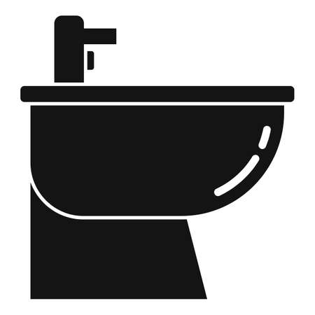 Equipment bidet icon, simple style Çizim