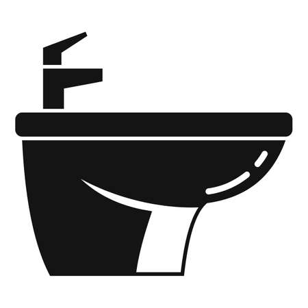 Home bidet icon, simple style Çizim