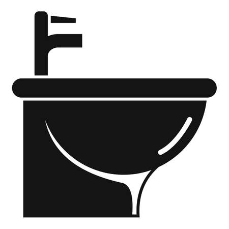 Furniture bidet icon, simple style