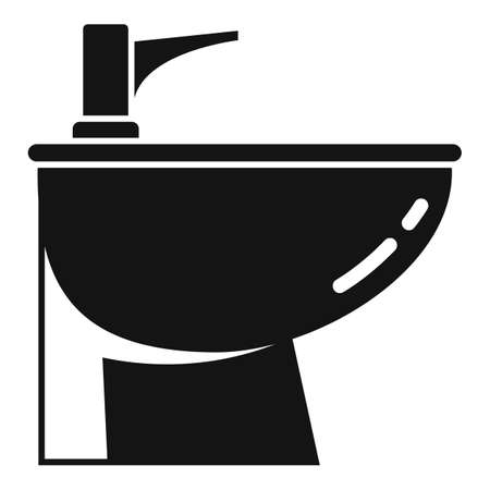 Apartment bidet icon, simple style