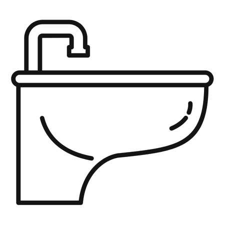 Bidet icon, outline style