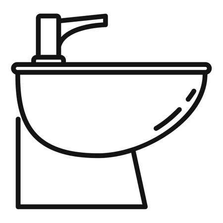 Equipment bidet icon, outline style