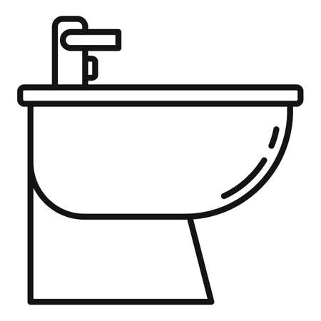 Home bidet icon, outline style