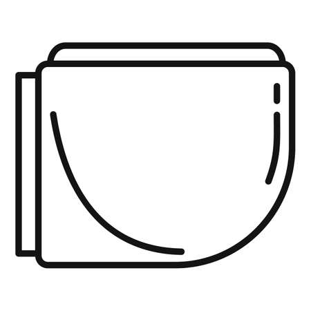 Apartment bidet icon, outline style Çizim