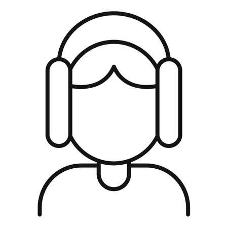 Inclusive audio icon, outline style
