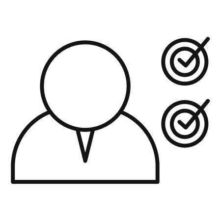 Modern personal traits icon, outline style