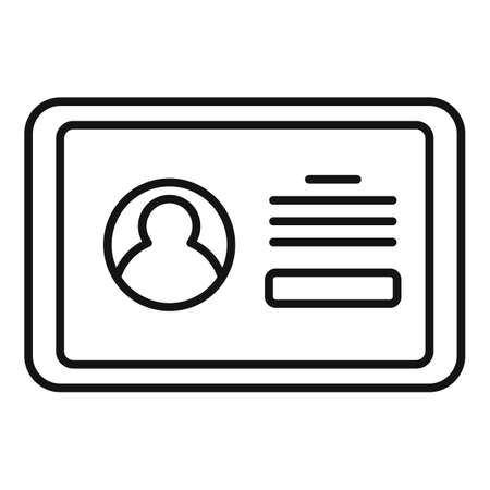 Tablet authentication icon, outline style