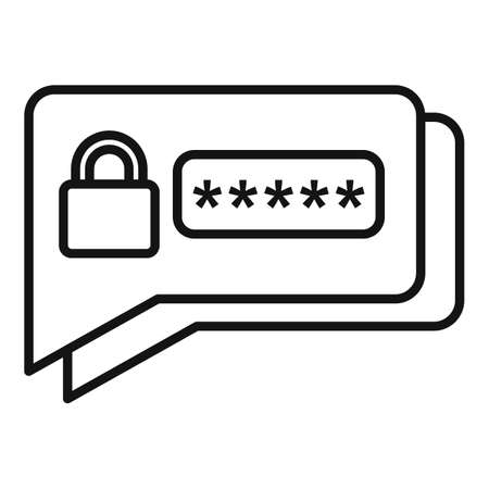 Sms authentication icon, outline style