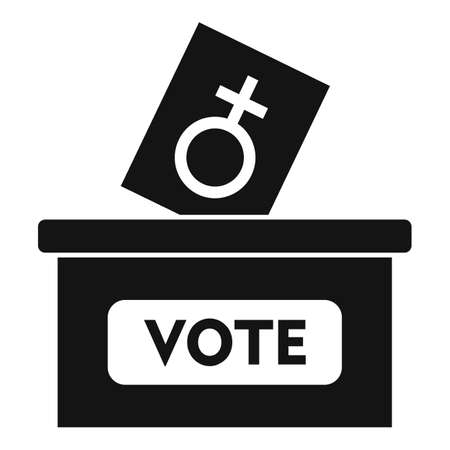 Woman vote right icon, simple style Иллюстрация