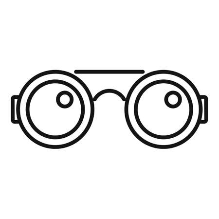 Blacksmith glasses icon, outline style