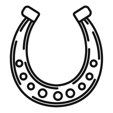 Blacksmith horseshoe icon, outline style