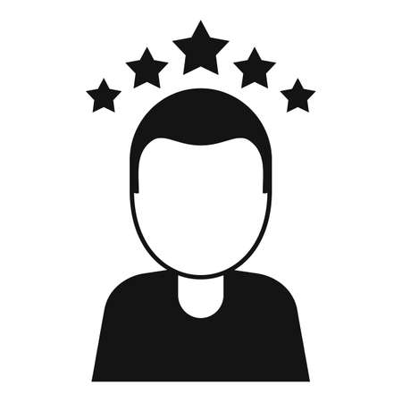 Attestation rating icon, simple style