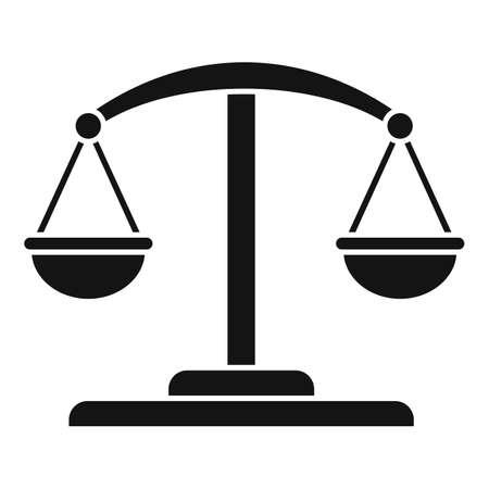 Attestation service balance icon, simple style Ilustración de vector