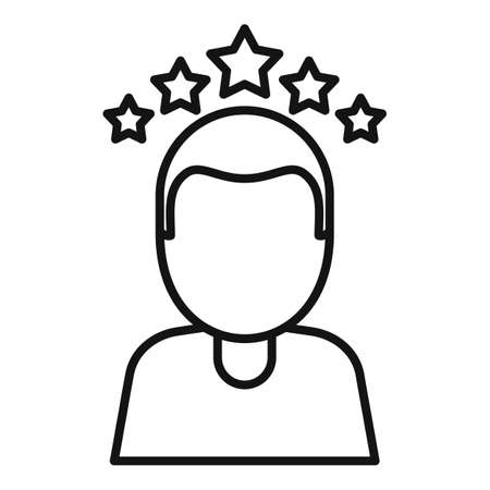 Attestation rating icon, outline style