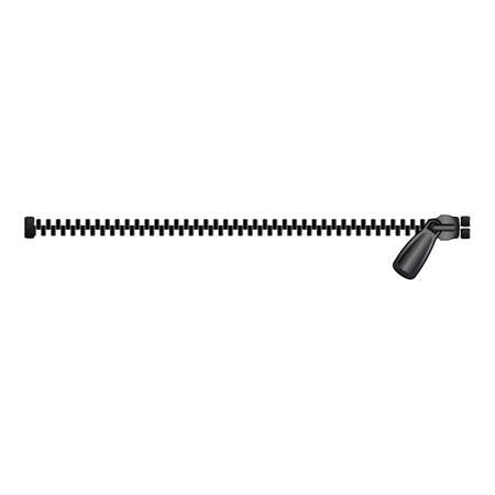 Split zipper icon, cartoon style