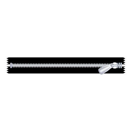 Lock zipper icon, cartoon style