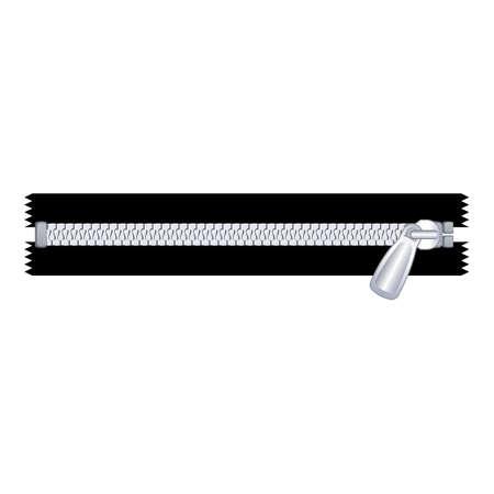 Craft zipper icon, cartoon style Иллюстрация