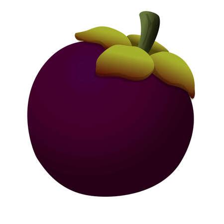 Food mangosteen icon, cartoon style