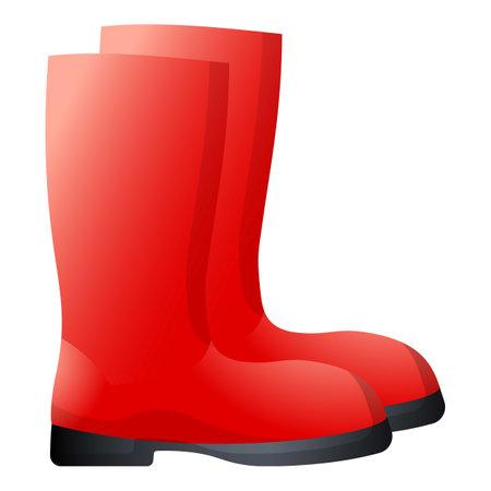 Garden boots icon, cartoon style 矢量图像