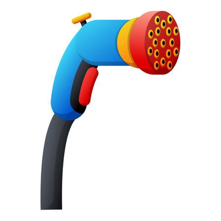 Hose sprinker icon, cartoon style