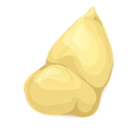 Slice durian icon, cartoon style 矢量图像