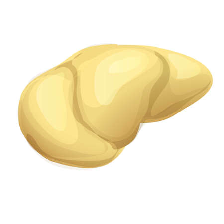 Part durian icon, cartoon style 矢量图像