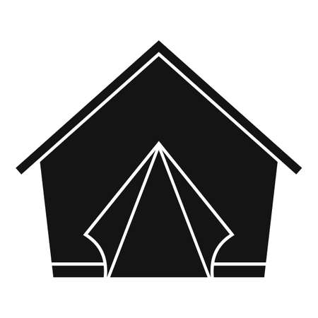 Refugees tent icon, simple style