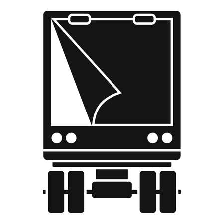 Illegal immigrants truck icon, simple style