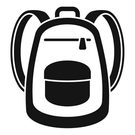 Immigrant backpack icon, simple style