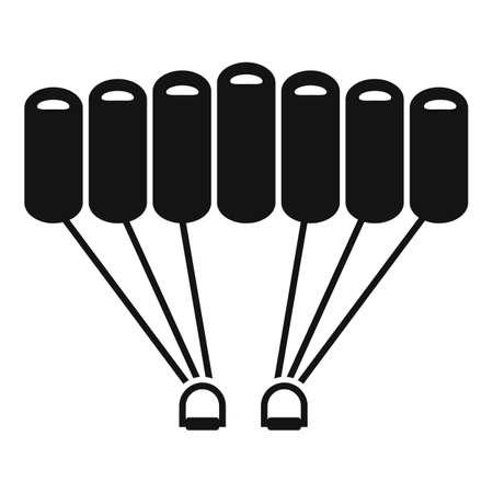 Air parachuting icon, simple style