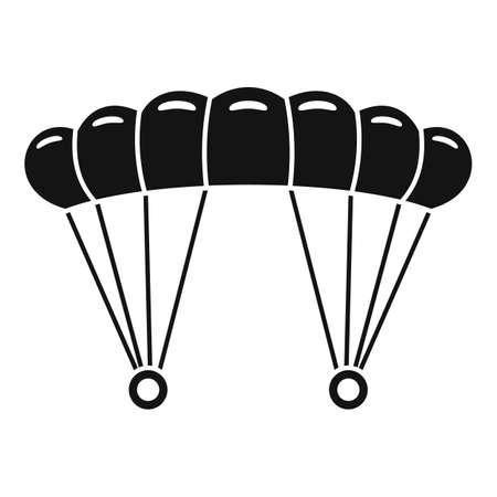 Skydiving parachute icon, simple style Vecteurs