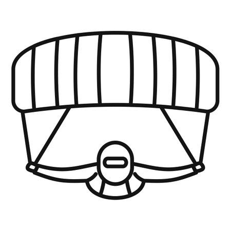 Parachuting man icon, outline style
