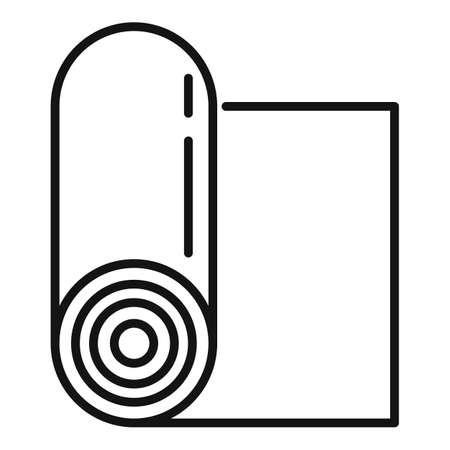 Yoga mat icon, outline style Vector Illustratie