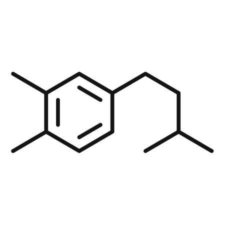 Hormones chemical molecule icon, outline style