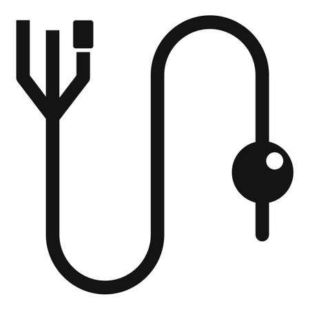 Care catheter icon, simple style