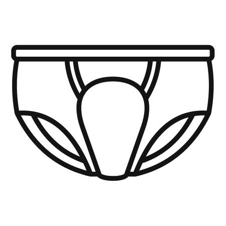 Soft diaper icon, outline style Vector Illustration