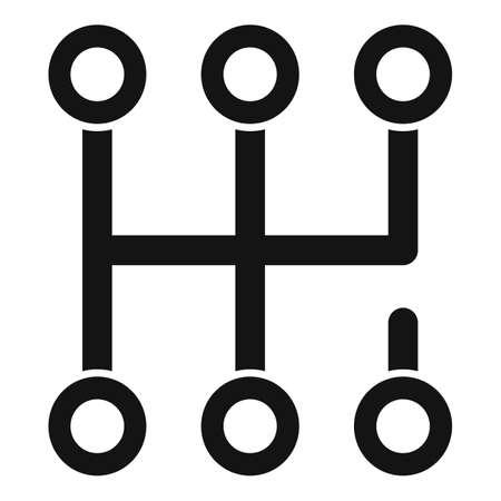 Gearbox scheme icon, simple style Vettoriali
