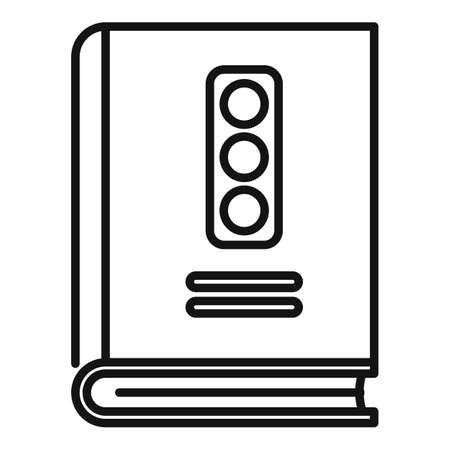 Traffic rules icon, outline style