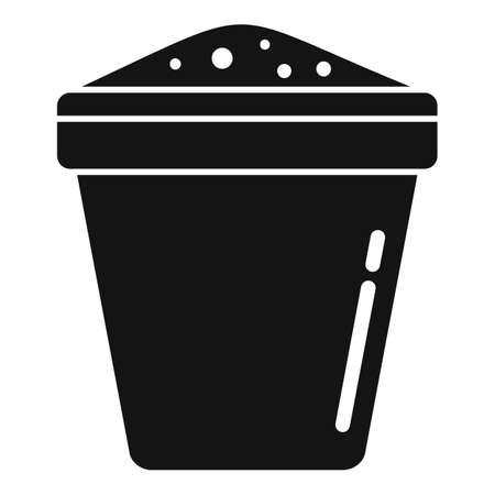 Fertilizer plant pot icon, simple style Illustration