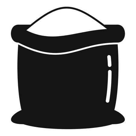 Farm sack compost icon, simple style Illustration