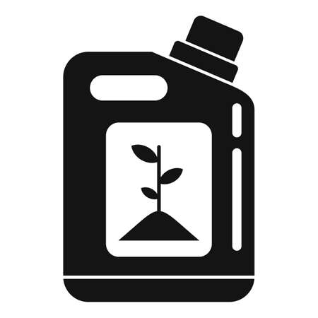 Plant bio canister icon, simple style