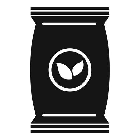 Plant soil pack icon, simple style Illustration