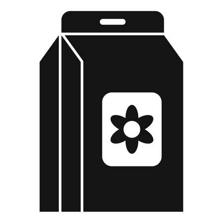Flower compost icon, simple style Illustration