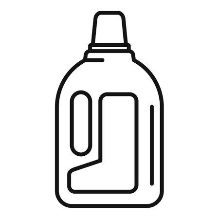 Fertilizer bottle icon, outline style Illustration