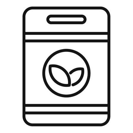 Garden fertilizer pack icon, outline style